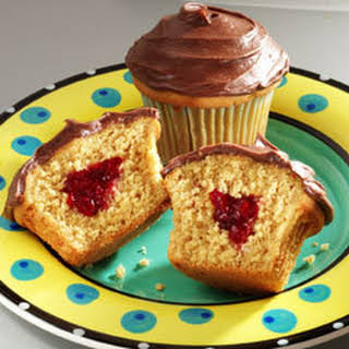 Peanut Butter & Jelly Cupcakes.