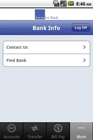 ServisFirst Bank Mobile - screenshot