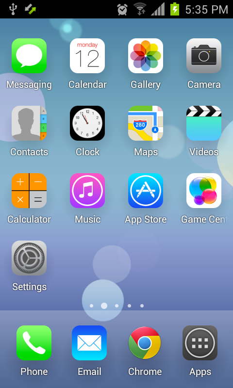 Download the iLauncher | iOS 7 Theme Android Apps On NoneSearch com