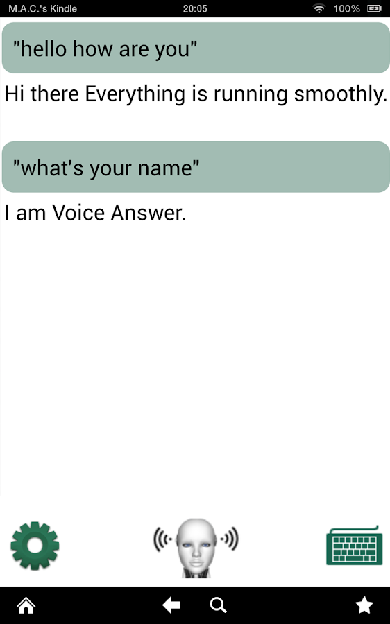 Voice Answer - like Siri in 3D - screenshot