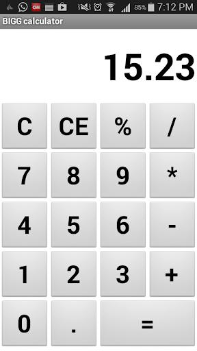 BIGG calculator