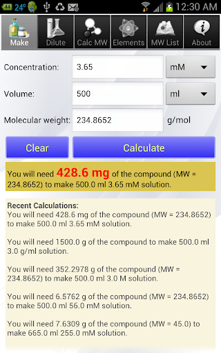 Solution Calculator Pro