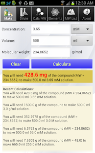 Solution Calculator Pro- screenshot thumbnail
