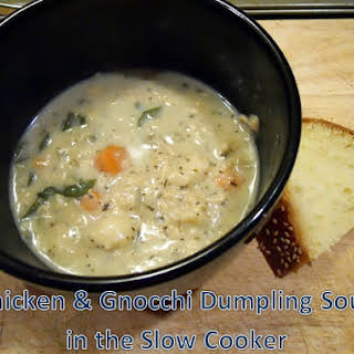 Slow Cooker Chicken & Gnocchi Soup.