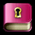 Diary with lock password icon