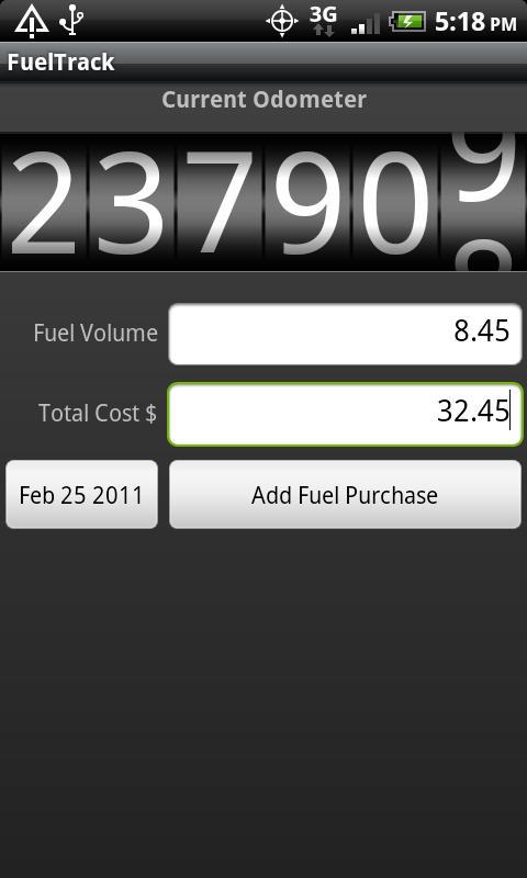 FuelTrack- screenshot