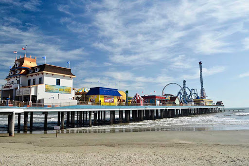 The Pleasure Pier in Galveston, Texas.