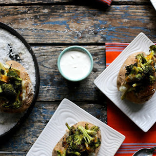 Roasted Broccoli and Cheddar Baked Potatoes.