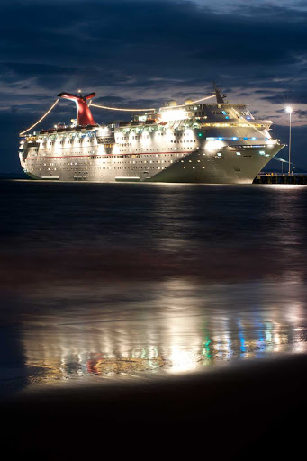 Carnival-Inspiration-Costa-Rica-night -  Carnival Inspiration docks for the evening in Costa Rica.