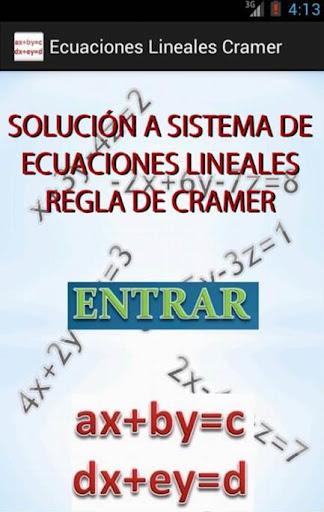 Solución a Ecuaciones lineales