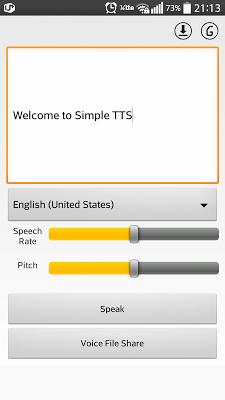 Simple TTS (Text To Speech) - screenshot
