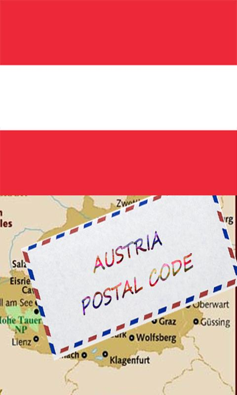 AUSTRIA POSTAL CODE - screenshot