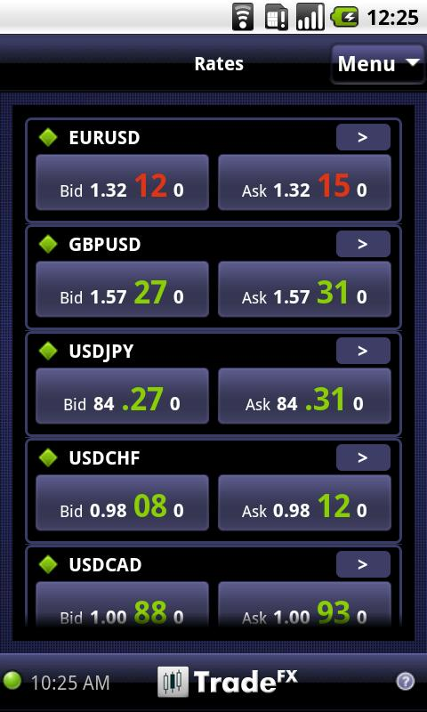 TradeFX - screenshot
