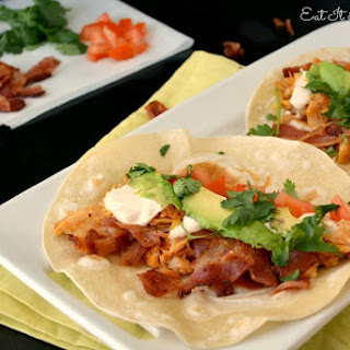 Chicken Club Tacos with Spicy Chipotle Ranch Sauce