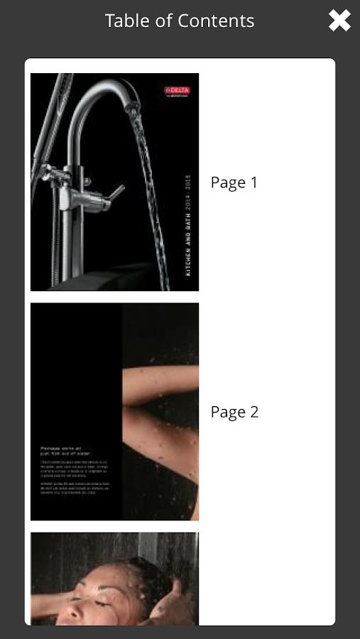 Delta Faucet Catalogs- screenshot