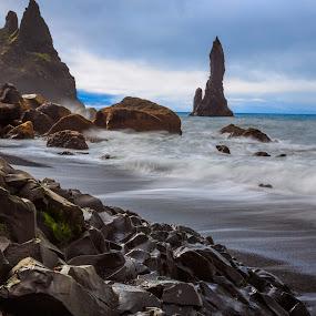 Restless ocean by George Marcu - Landscapes Waterscapes ( iceland, 2014, sea, ocean, beach,  )