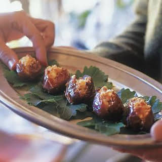 Dates Stuffed with Goat Cheese.