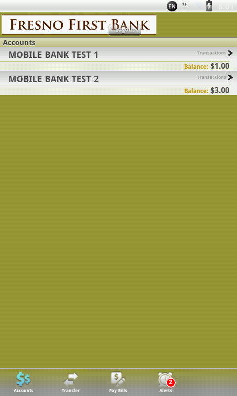 Fresno First Bank Mobile - screenshot