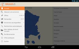 Screenshot of Leboncoin