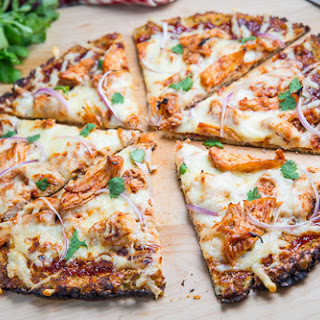 BBQ Chicken Cauliflower Crust Pizza