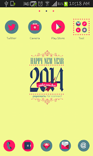 Happy NewYear go launcher - screenshot thumbnail