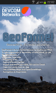 GeoFormel Lite - 4 Geocaching- screenshot thumbnail