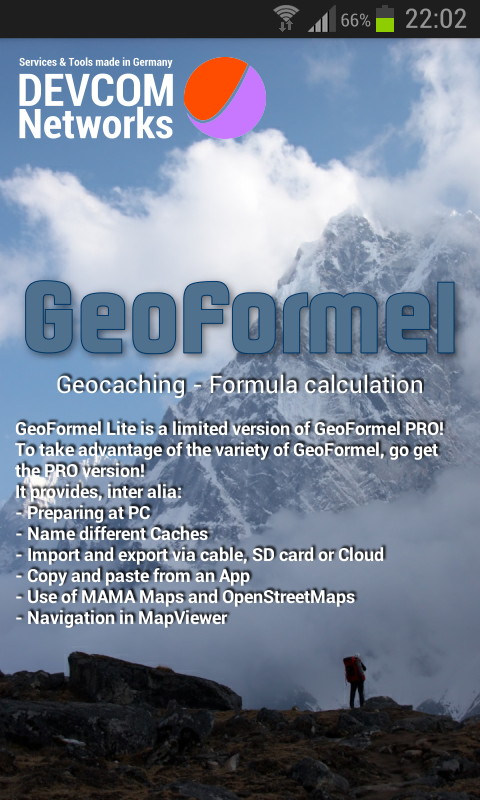GeoFormel Lite - 4 Geocaching- screenshot