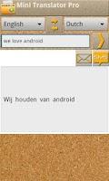 Screenshot of Mini Translator