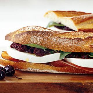 Mozzarella and Prosciutto Sandwiches with Tapenade