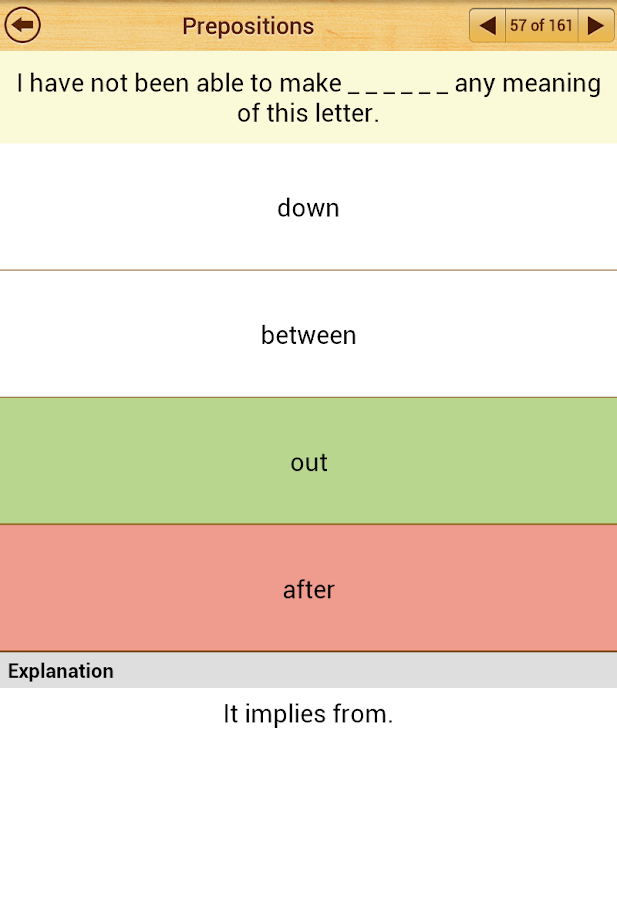 Grammar Express : Prepositions - screenshot