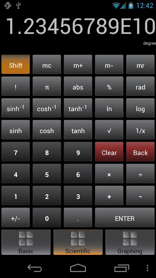 Graphing Calculator Screenshot 1