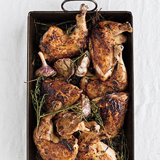 Roast Chicken with Herb-and-Garlic Pan Drippings