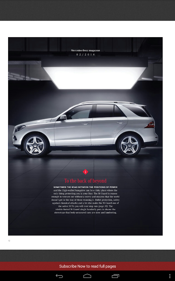 Mercedes benz india magazine android apps on google play for Mercedes benz apps