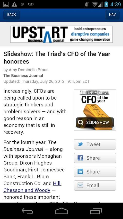 The Triad Business Journal- screenshot