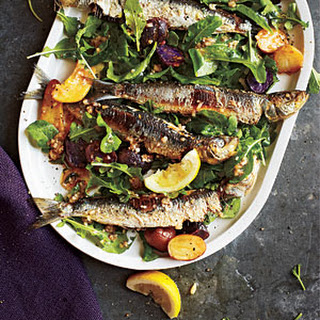 Portuguese Sardine and Potato Salad with Arugula.