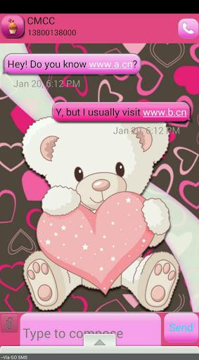 ValentineBear GO SMS THEME