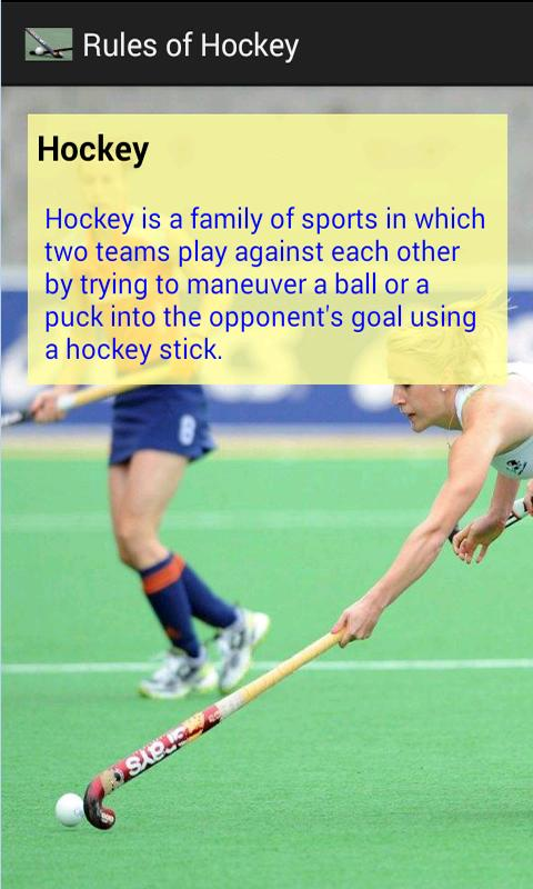 hockey playing rules