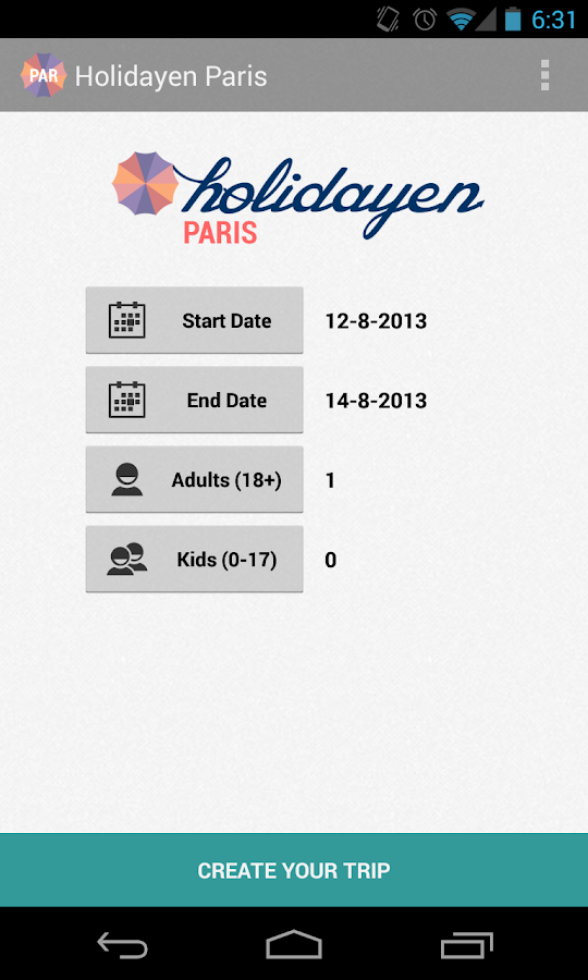Holidayen Paris - screenshot