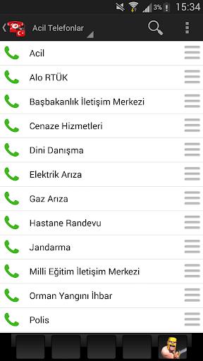 Acil Telefonlar