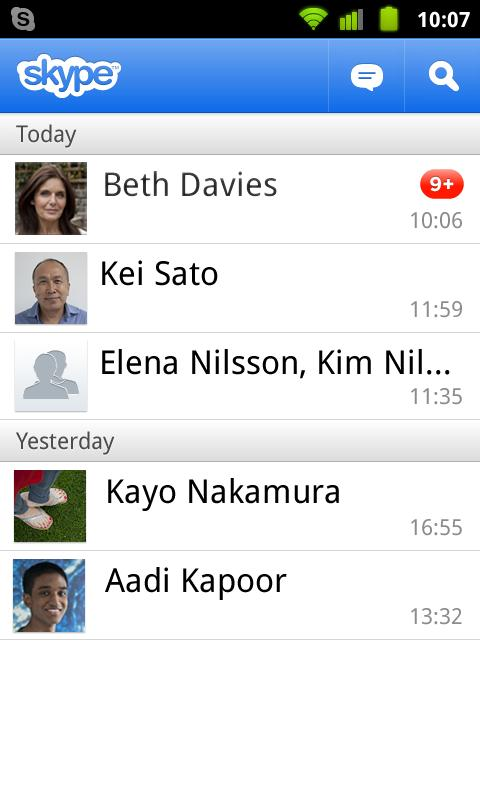 Skype™ on Telkomsel - screenshot