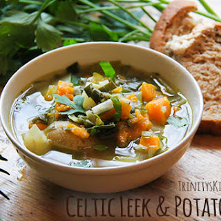 Celtic Leek & Potato Soup infused with Rosemary & Thyme