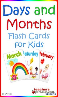 Days and Months Flashcards - screenshot thumbnail