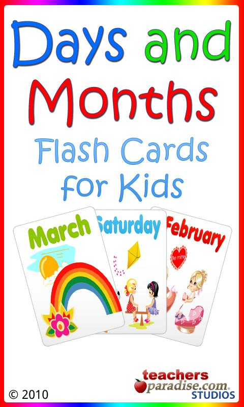 Days and Months Flashcards - screenshot