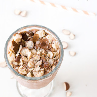 Boozy Malted Hot Chocolate Milkshake