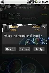 Easy SMS Racing car theme screenshot