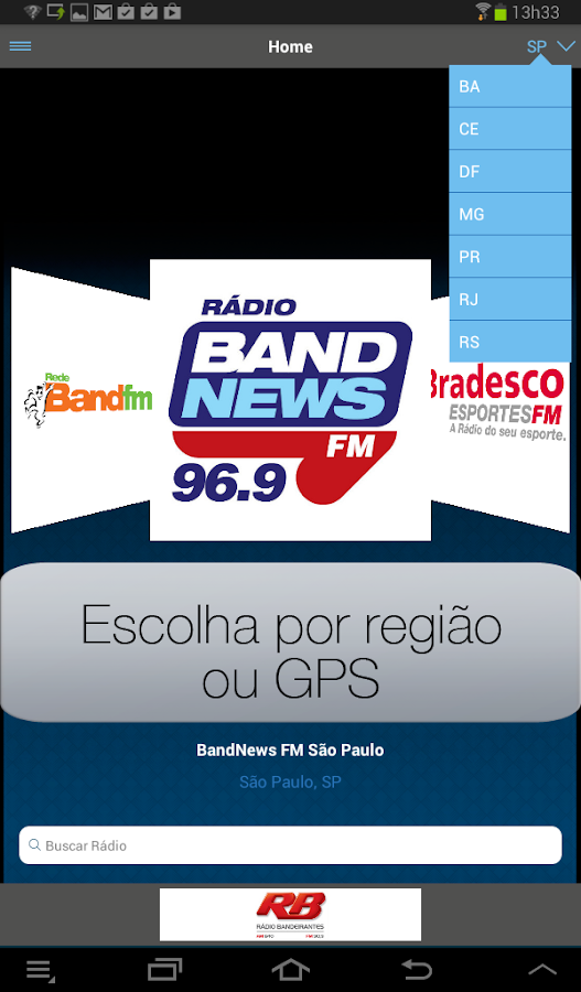 Band Rádios- screenshot