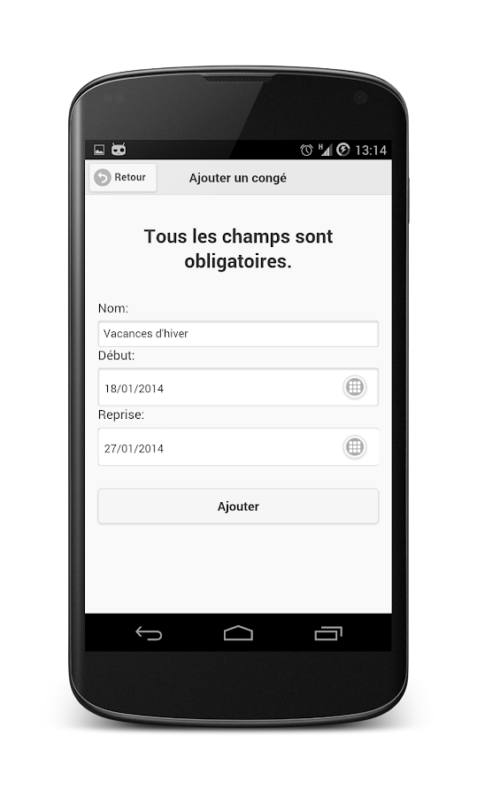France vacances scolaires applications android sur google play for Dates vacances scolaires 2014 2015