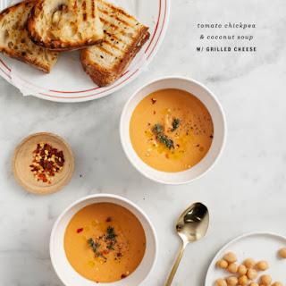 Tomato Chickpea & Coconut Soup