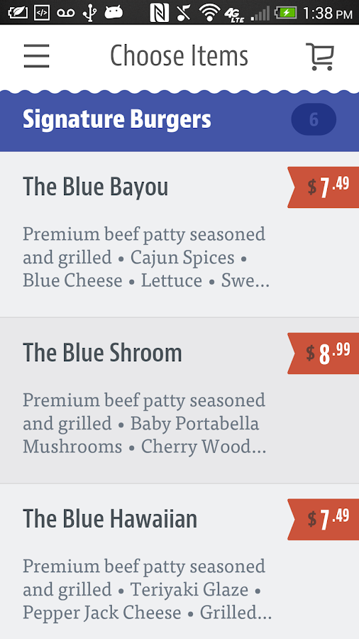 Blue Moon Burgers- screenshot