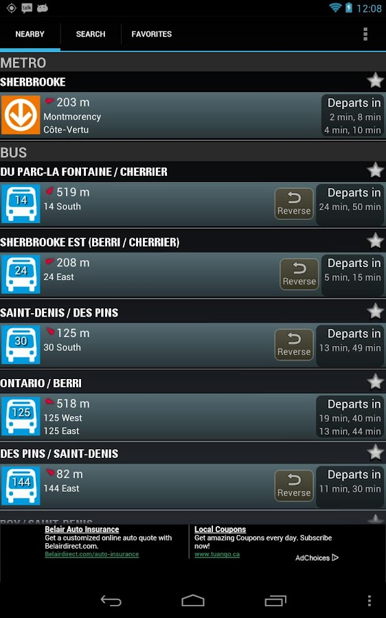 Montreal Metro & Bus - screenshot